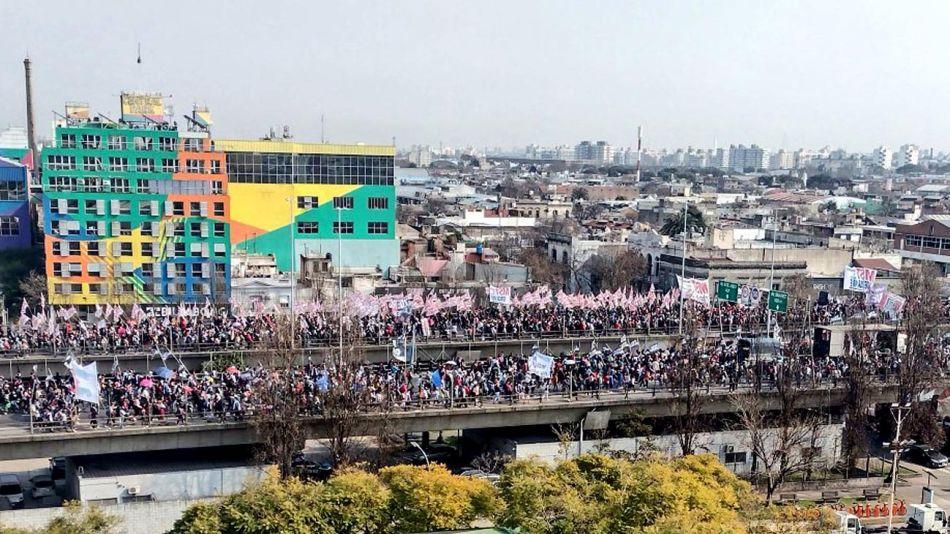 manifestación organizaciones sociales en el Centro porteño 20210818