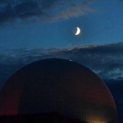 Durante este fenómeno astronómico se pueden distinguir las nubes arremolinadas de la atmósfera superior de Júpiter.