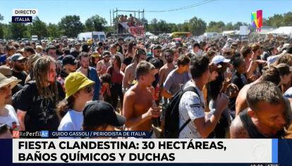 Italia: realizaron una fiesta clandestina con 10 mil asistentes y drogas sintéticas