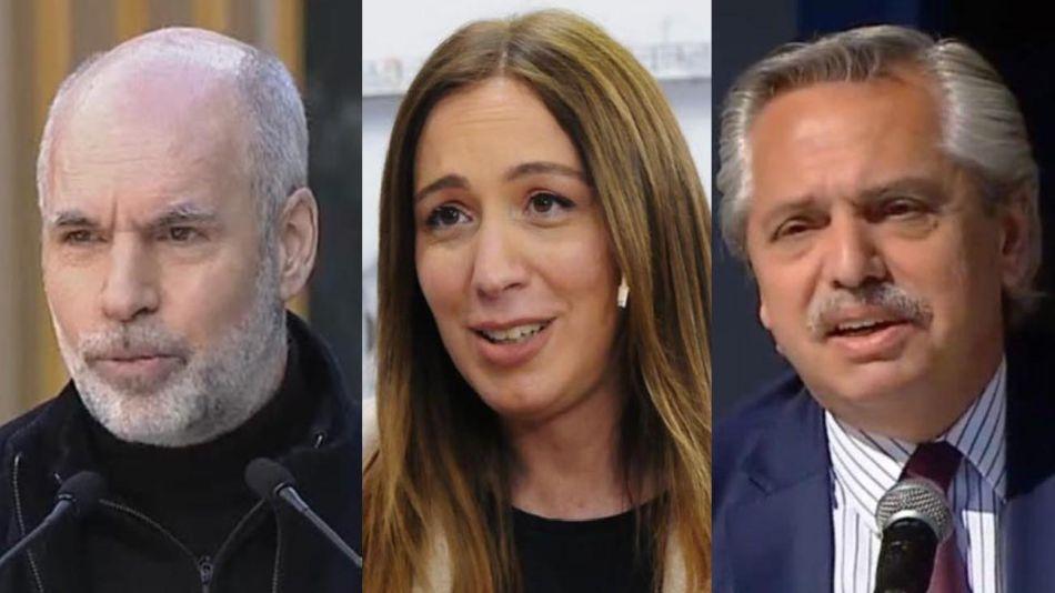 Larreta, Vidal y Alberto Fernández 20210819