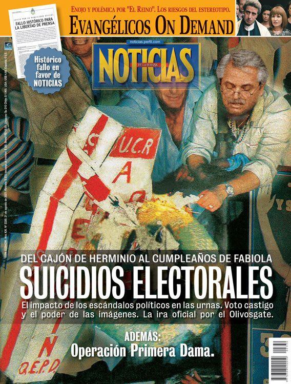 Tapa Nº 2330: Suicidios electorales, del cajón de Herminio al cumpleaños de Fabiola Yáñez | Foto:Pablo Temes