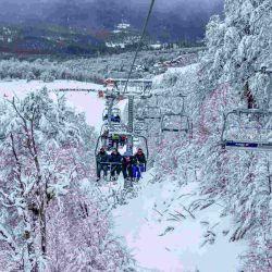 Hacia la zona alta se encuentran habilitadas las pistas El Palito y la Travesía Baja.
