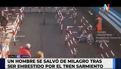 Tren Sarmiento atropelló a un transeúnte distraído