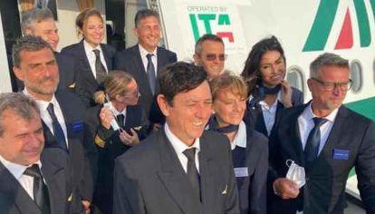 Vuelo de prueba ITA, ex Alitalia, realizado el lunes 16 de agosto para obtener el permiso de vuelo.