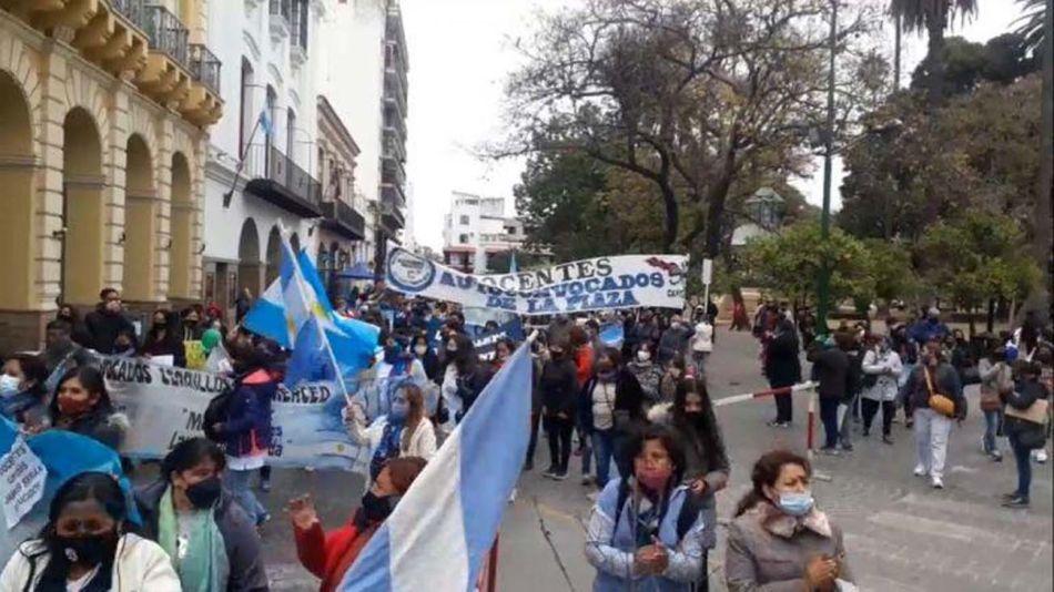 protesta de docentes en Salta 20210820