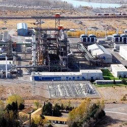 The PIAP Industrial Heavy Water Plant in Arroyito, Neuquén Province.