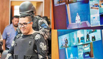 Juicio virtual. Guille Cantero siguió la audiencia por Zoom desde el penal de Marcos Paz, donde se encuentra recluido. Allí cumple una condena a 64 años de prisión por distintos delitos que cometió tanto afuera como adentro de la cárcel.