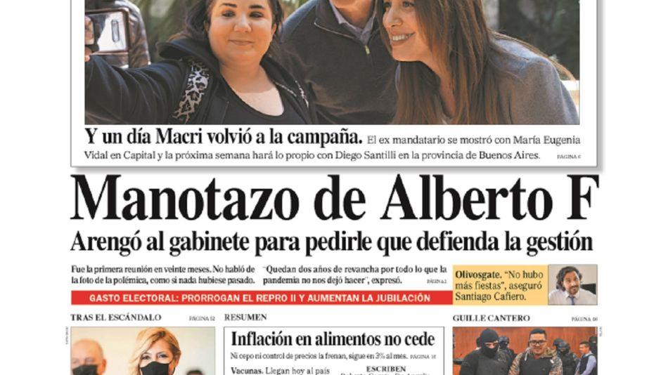 Tapa Diario Perfil sabado 21 de agosto