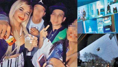 """Presa. Lucía Uberti fue detenida en septiembre de 2018 junto a su novio, Matías César. Desde el viernes comenzó a ser juzgada vía zoom junto a """"Guille"""" Cantero por los ataques a tiros contra edificios judiciales y casas de magistrados."""