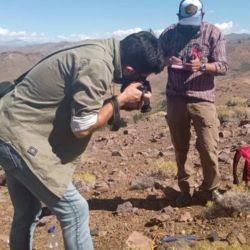 La zona donde aparecieron estos restos se encuentra sobre afloramientos de la Formación Vaca Muerta. Neuquén.