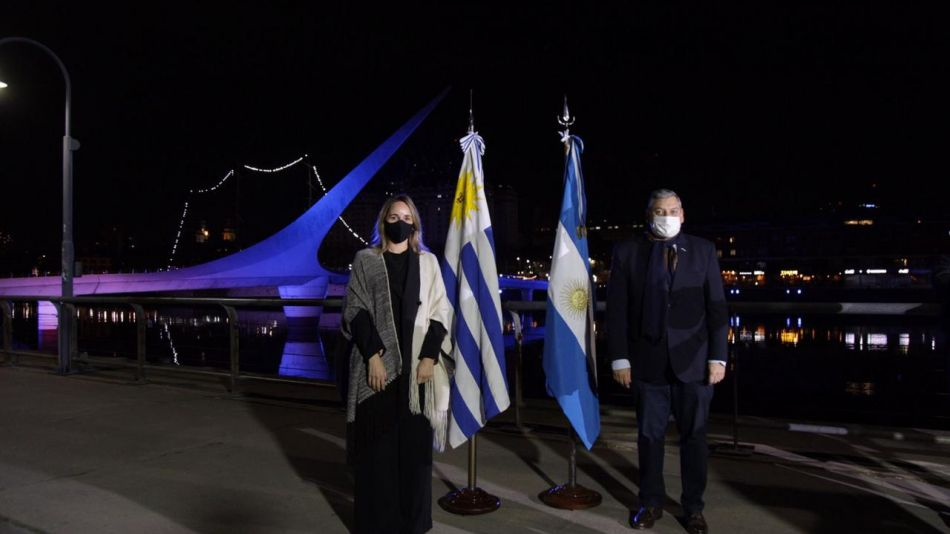 Embajador Carlos Enciso y Clara Muzzio, ministra de Espacio Público e Higiene urbana de CABA