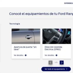 A través de la plataforma, los interesados en la Ford Ranger pueden adentrarse en todas funcionalidades.
