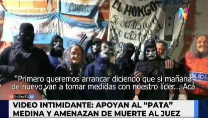 Patota amenazó a los jueces que investigan al Pata Medina