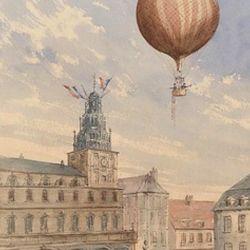 El Globe de Charles logró mantenerse en el aire durante 45 minutos y recorrió una distancia de 25 kilómetros.