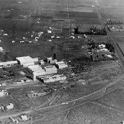 Vista de las primeras edificiaciones de la ciudad.