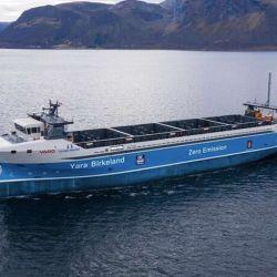 El Yara Birkeland puede transportar un total de 120 TEU.