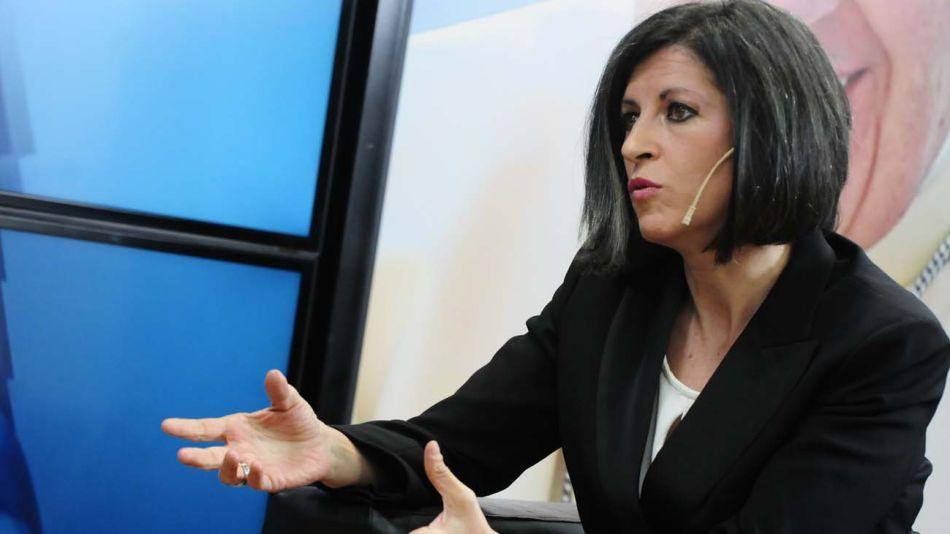 Fernanda Vallejos, en la entrevista con Jorge Fontevecchia.
