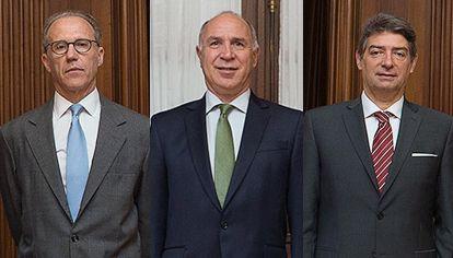 Carlos Rosenkrantz, Ricardo Lorenzetti y Horacio Rosatti