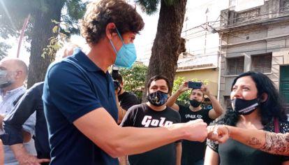 Martín Lousteau de campaña en Santiago del Estero