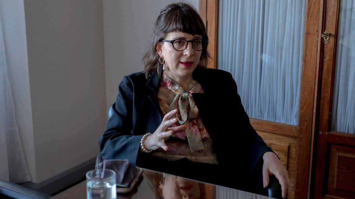 Mercedes D'Alessandro, Argentina's national director of gender, equality and economy, speaks during an interview in Buenos Aires, Argentina, on Wednesday, August 25, 2021.