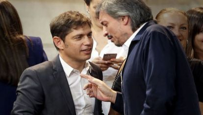 Axel Kicillof y Máximo Kirchner