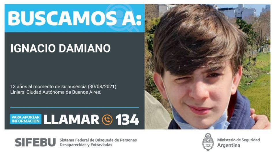 Ignacio Damiano busqueda liniers g_20210831