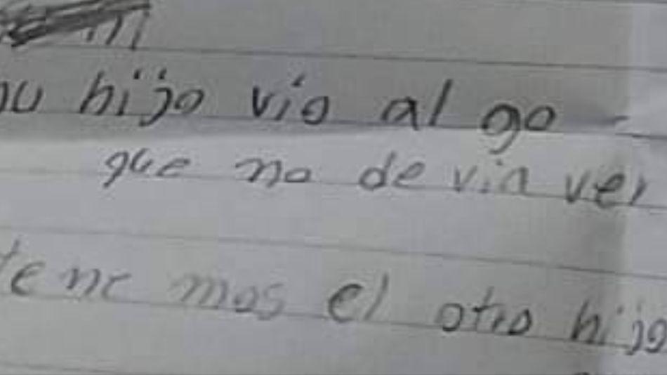 En Paraguay una madre encontró a su hijo de 2 años muerto y una nota escalofriante.