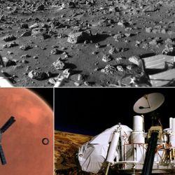 La nave espacial Viking 2 aterrizó en las amplias y planas llanuras de Utopia Planitia, en Marte