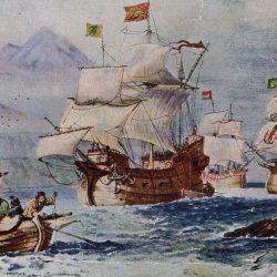 La expedición estaba compuesta por cinco naves y por 250 hombres, de los cuales  solo regresaron 18 con vida