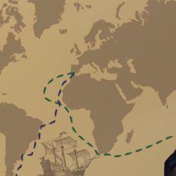 Tras la muerte de Magallanes, en altamar, el explorador español Sebastián Elcano se puso al frente de la expedición.