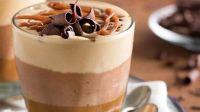 mousse de chocolate con dulce de leche