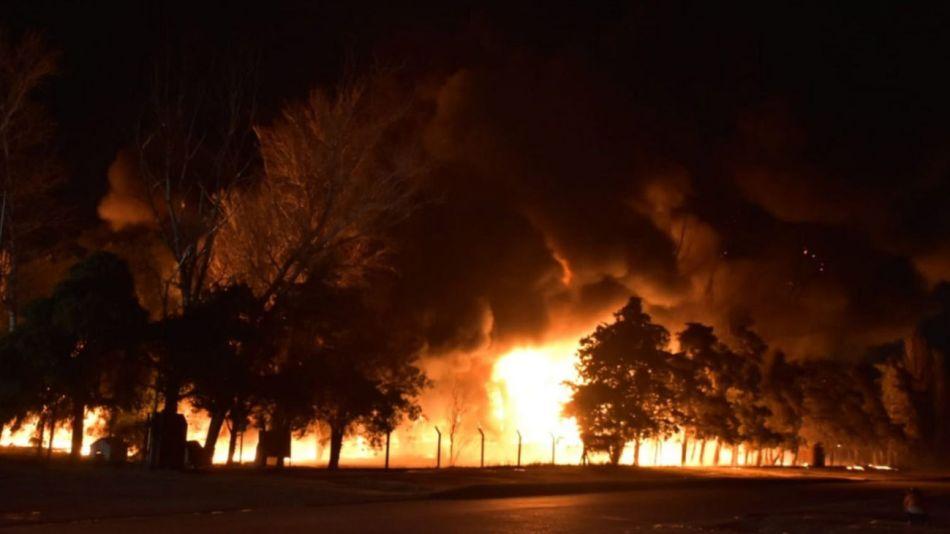incendio en una fabrica de San Luis 20210906