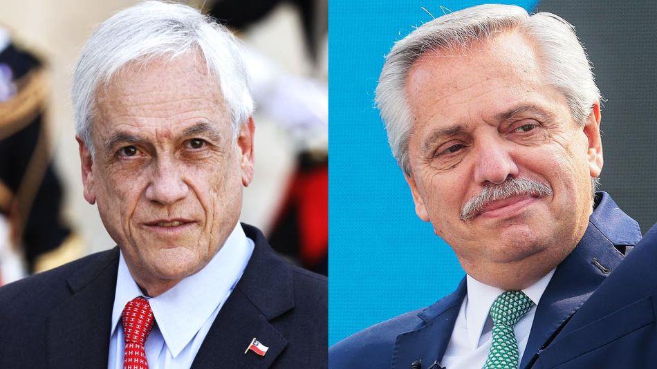 Sebastian Piñera y Alberto Fernandez 20210906