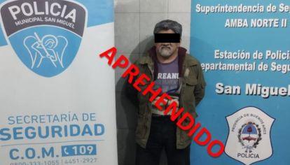 El sospechoso tiene 60 años y fue detenido por la Policía Municipal de San Miguel.