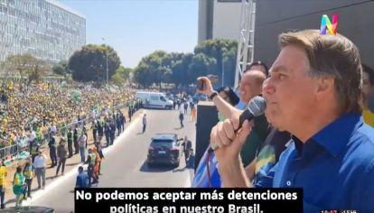 Manifestaciones en apoyo a Bolsonaro