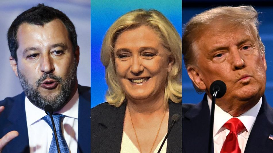 Matteo Salvini, Marine Le Pen, Donald Trump. 20210908