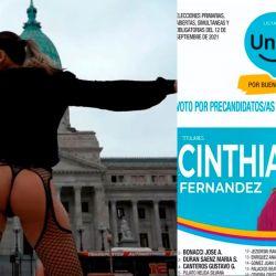 Cinthia Fernández en el Congreso - La boleta de Unite   Foto:cedoc