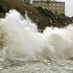 Mar del Plata azotada por fuertes vientos.  | Foto:CEDOC