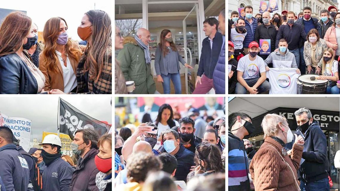 Candidates on the campaign trail before the PASO primaries, in the final week of campaigning.
