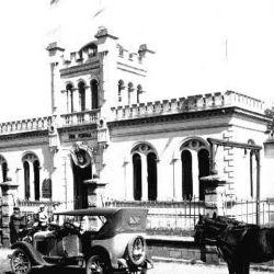 Vista del viejo edificio del Tiro Federal, uno de los más antiguos de Entre Ríos.