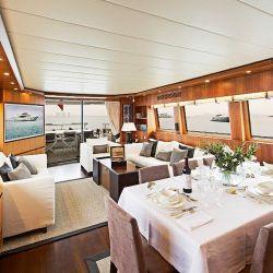 Interior del barco Maiora | Foto:Cedoc