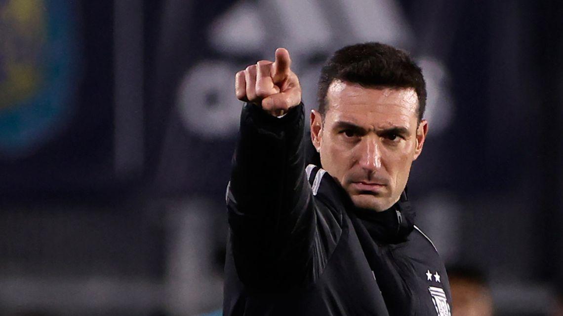 Argentina's coach Lionel Scaloni.