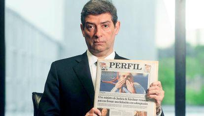 Rosatti con la tapa de PERFIL cuando en 2005 renunció como ministro denunciando corrupción de De Vido.