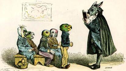 Caricatura del siglo XVIII de J.J Grandville.