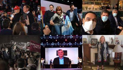 Postales opositoras: Larreta y Santilli, Patricia Bullrich; Manes con Valdés y Morales; un acto de Lousteau; Macri en campaña y Elisa Carrió.