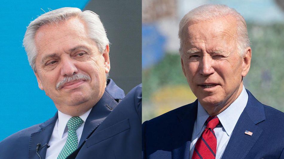 Alberto Fernández y Joe Biden 20210910
