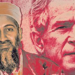 Osama bin Laden and George W. Bush