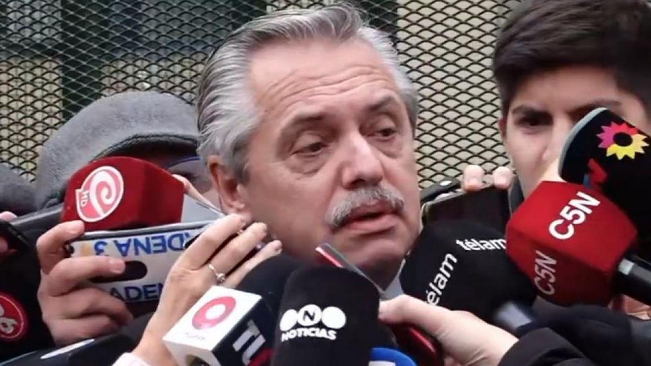 Alberto Fernández con periodistas | Foto:Cedoc