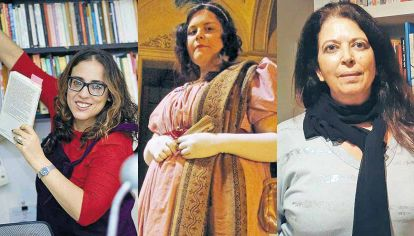 Organizadoras. Mariana Mazover incorporó lectura además de sus talleres de escritura. Yerimen Iglesias armó el de Jane Austen. Susana Estévez cofundó El Señalador.