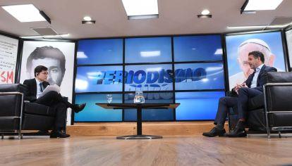 Guido Sandleris, en la entrevista con Jorge Fontevecchia.